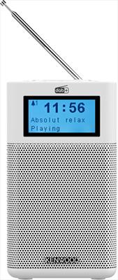 KENWOOD RADIOSVEGLIA CR-M10DAB-W WHITE Bluetooth, Radio DAB+/FM, 5 memorie, Telecomando