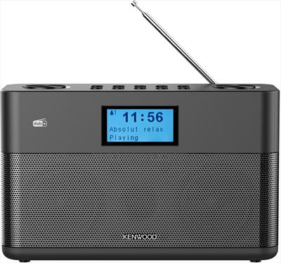 KENWOOD RADIOSVEGLIA CR-ST50DAB-B BLACK Bluetooth, Radio DAB+/FM Stereo, 5 memorie, Telecomando