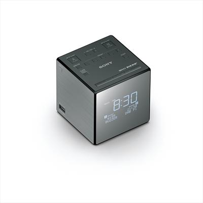 SONY RADIOSV. XDRC1DBP DAB  BLACK Radiosveglia  DAB/DAB + / FM, RDS, USB, Display LED