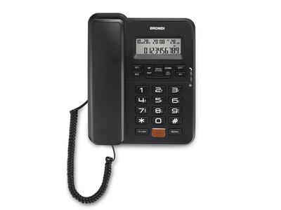 BRONDI TELEF. FILO OFFICE DESK NERO  Display LCD 12 cifre,Vivavoce, 3 memorie dirette, identific
