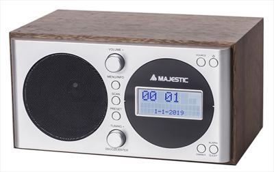 NEW MAJESTIC RADIO WR-162DAB  VINTAGE RADIO FM/DAB CON SVEGLIA