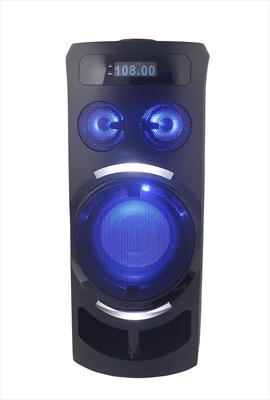 NEW MAJESTIC SISTEMA AUDIO DJB-273 BT portatile, batt. ricaricabile, 60W, Bluetooth, effetti luci
