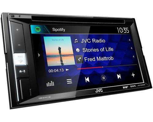 """JVC SINTOMONITOR KW-255DBT 6.2\"""" MECHALES DVD Receiver CON 6.2\"""", DAB Tuner, Bluetooth, App control"""