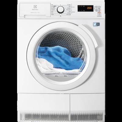ELECTROLUX ASCIUGAT.EDH4084GOW 8kg(A++)$ Motore Inverter.Display LCD.Ecoflow.Lana Woolmark Blue.Refre