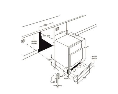 SMEG CONG. UD7108FSEP (A+) SOTTOTAVOLO Bianco,Statico,98 l,  HxLxP 820x596x546mm
