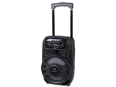 TREVI SISTEMA AUDIO XF 450  PORTATILE amplificato 30W, Bluetooth, 2 ing Mic, USB, batt. ricarica