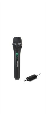 NEW MAJESTIC MICROFONO MIC-601W S.F. Microfono senza fili Wireles UHFcon cavo