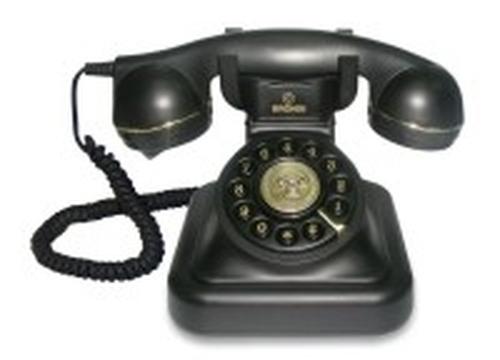 BRONDI TELEF. FILO VINTAGE 20 NERO Telefono a filo linea retro' , cavi in tessuto