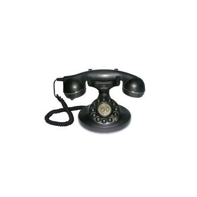 BRONDI TELEF. FILO VINTAGE 10 NERO Telefono a filo linea retro' , cavi in tessuto