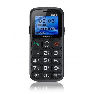 BRONDI CELLULARE AMICO SEMPLICE+ NERO cellulare gsm easy phone-TASTI GRANDI