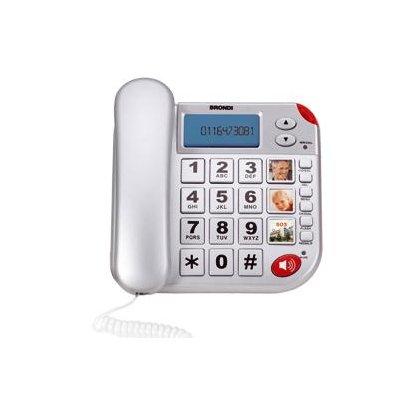 BRONDI TELEF. FILO SUPER BRAVO PLUS TELE Tasti grandi, vivavoce, display LCD,tasto SOS, telecomando