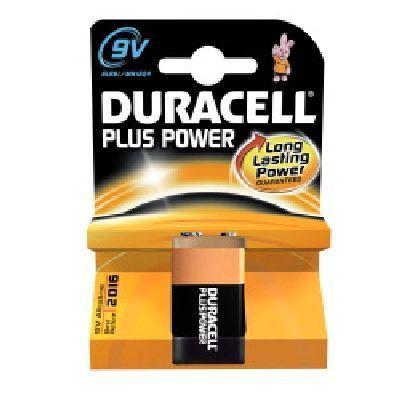 DURACELL 9V MN 1604 PLUS POWER nuova serie Plus Power