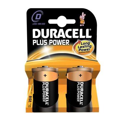 DURACELL TORCIA MN 1300 PLUS POWER nuova serie Plus Power blister 2 pile