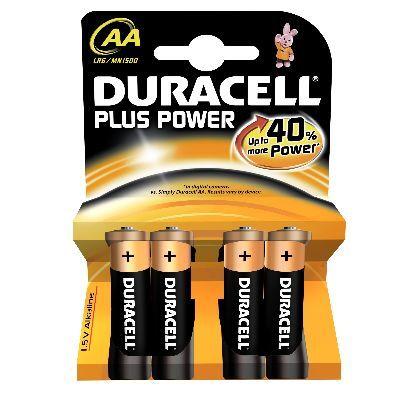 DURACELL STILO MN 1500 AA PLUS POWER nuova serie Plus Power