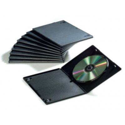 FELLOWES CUSTODIA DVD SLIM CONF.10pz custodia slim rigida nera, confezione 10 pezzi