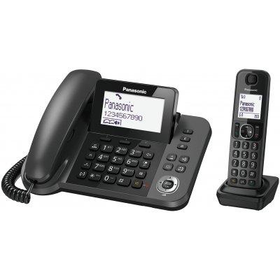 PANAS TEL.CORDLESS KX-TGF310EXM NERO Telefono 2-in-1 Portatile Cordless e ricev. a filo con base