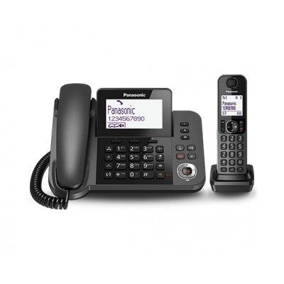 PANAS TEL.CORDLESS KX-TGF320EXM NERO Telefono 2-in-1 - Cordless e ricev. a filo + SEGRETERIA