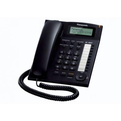PANAS TELEF. FILO KX-TS880EXB NERO display LCD a 3 righe, vivavoce,vivavoce, LED suoneria