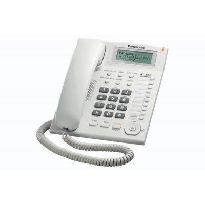 PANAS TELEF. FILO KX-TS880EXW BIANCO display LCD a 3 righe, vivavoce,vivavoce, LED suoneria