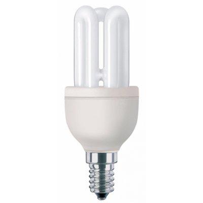 PHILIPS LAMP.ELET. GENIE 8W E14 2700K  E14,Elettronica,3 tubi,luce calda  8000 ore