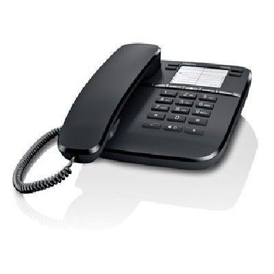 GIGASET TELEF. FILO DA410 BLACK telefono da tavolo a filo, presa RJ9 x cuffia, Vivavoce