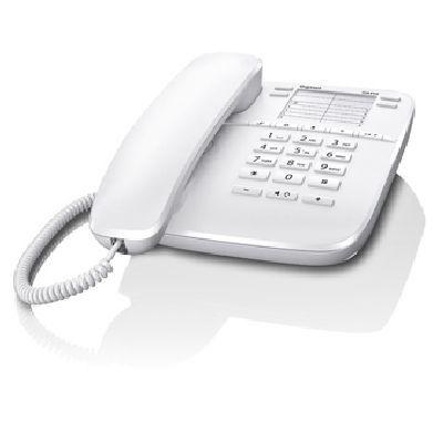 GIGASET TELEF. FILO DA410 WHITE telefono da tavolo a filo, presa RJ9 x cuffia, Vivavoce