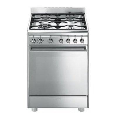 SMEG CUCINA CX68MF8-2 60x60 INOX VENTIL forno elettrico ventilato progr.pizza.colore inox