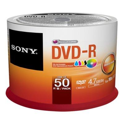 "SONY DVD-R 50DMR47PP CAMPANA 50pz   \""DVD-R 4.7GB 16X  Inkjet Printable Spindle 50 PZ"