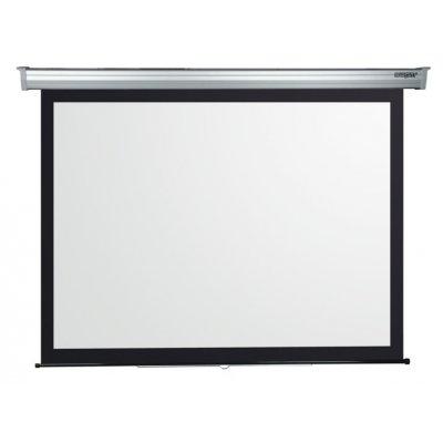 SOPAR SCHERMO 3281PL  280x210cm A MOLLA Serie Platinum, tela bianca tradizionale, cassonetto bianco