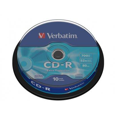 VERBATIM CD-R 80min SPINDLE 10pz 43437 43437 confezione spindle 10 pezzi