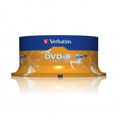 VERBATIM DVD-R 4,7GB SPINDLE 25pz 43522 43522, 16x ,  120min.   spindle 25pz